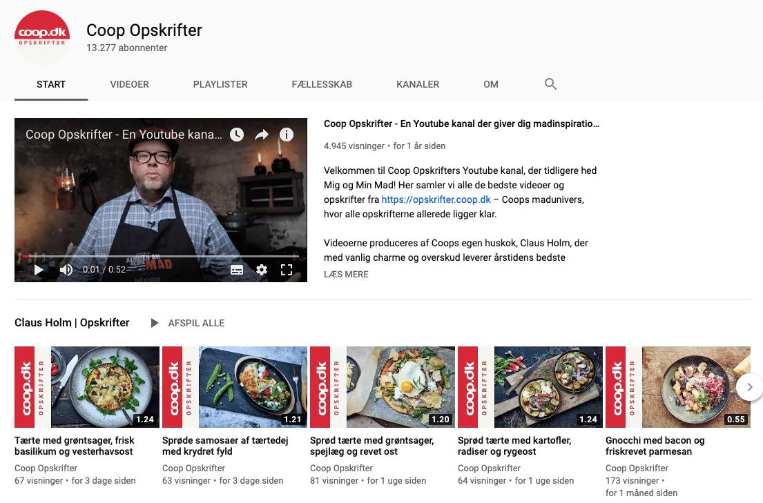 Coop Opskrifter på YouTube