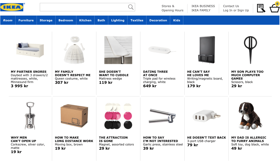 Eksempel på content marketing - IKEA