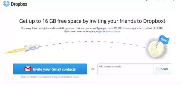 Eksempel på growth hacking fra Dropbox