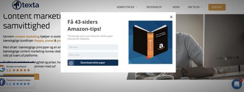 Eksempel på Sleeknote - Amazon