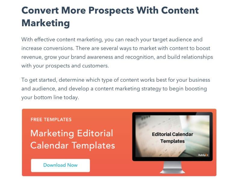 Eksempel på gated content - HubSpot