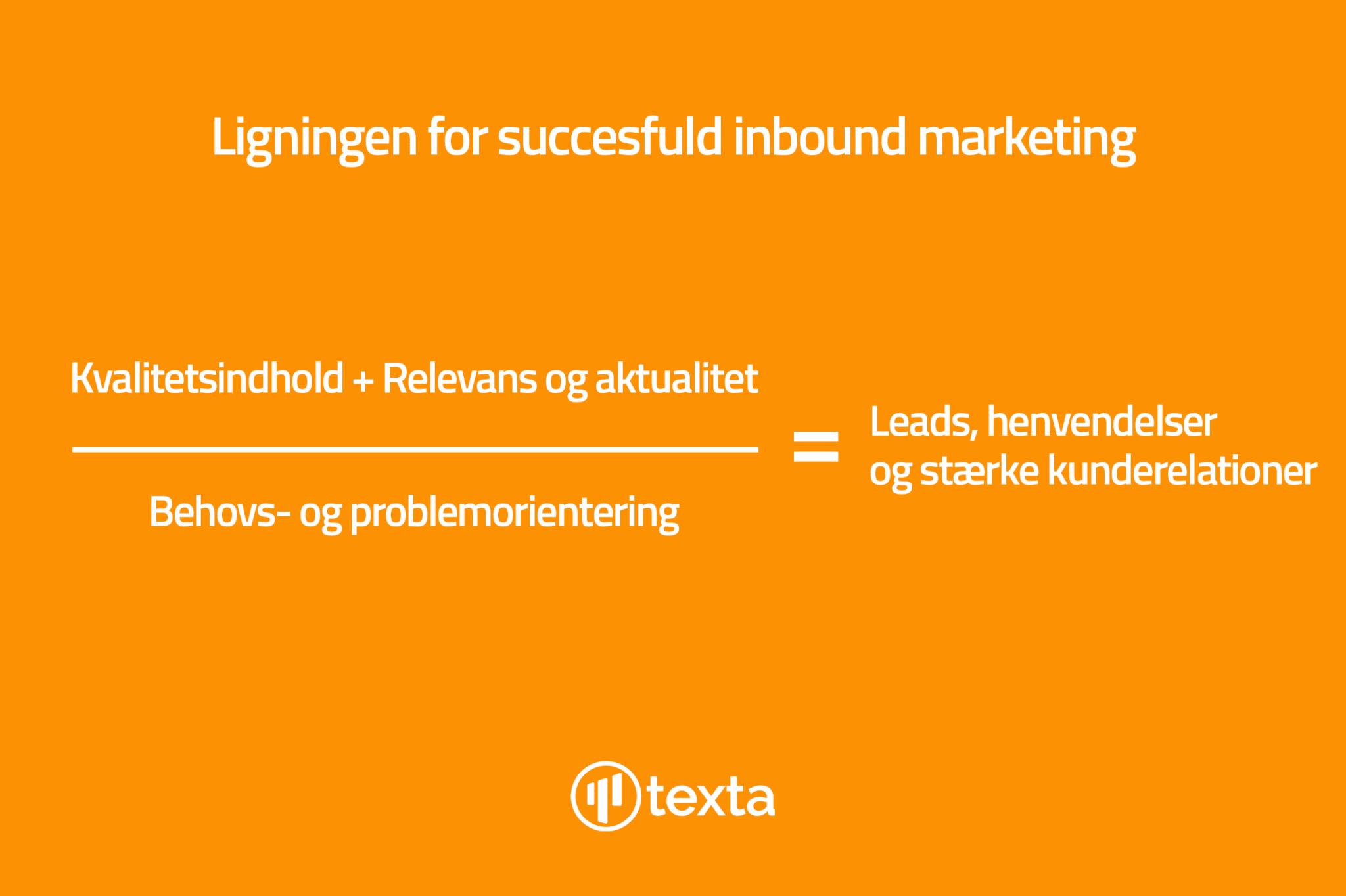 Inbound marketing - Ligning