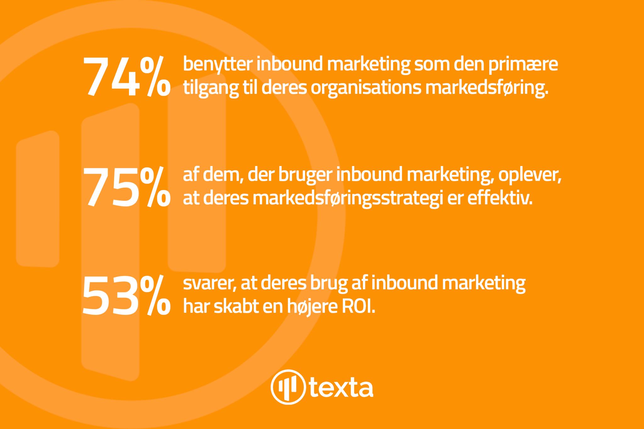 Inbound marketing - Tre statistikker