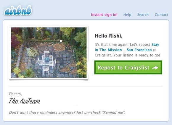 Eksempel på growth hacking med Airbnb