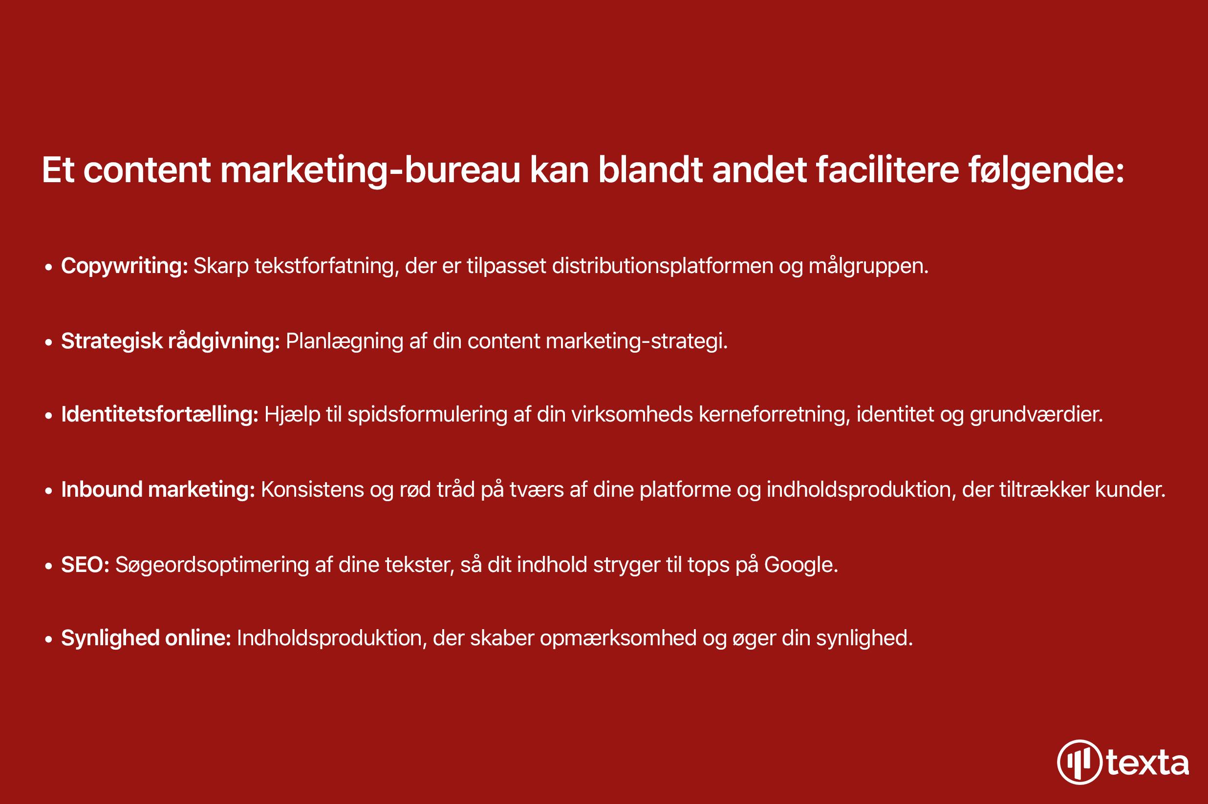 content marketing-bureau facilitere